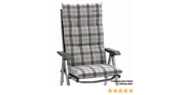 4 x Kettler Auflagen für Hochlehner Sessel 8 cm dick in blau Gartenmöbel Kissen