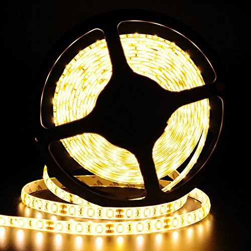 Tailcas® Super Bright Warmweiß Non-Wasserdicht 5M 5630 300 LEDs Flexibler Streifen LED Strip Leiste LED Lichtkette Lichtband LED Band LED Lichtschläuche - Netzteil 12V(nicht enthalten)