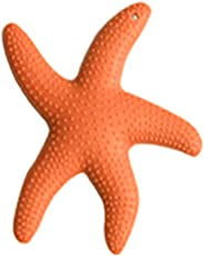 Forberesten Starfish Teeth Rubber Silicone Sensory Teether Baby Infant Activity Toy BPA Free Teether (Orange)