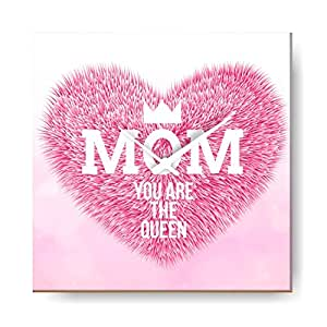 YaYa cafe Mothers Day Gifts Mom You are The Queen Wall Clock for Mom - 8x8 inches