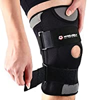 Knee Pads, Adjustable Knee Support, Knee Brace-- Open-Patella Stabilizer Non-Slip With Medical Grade Quality Breathable Neoprene for Any Sport Protection, Recovery and Pain Relief