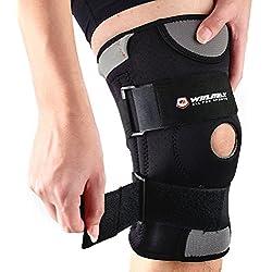 Winline rodillera ajustable antideslizante / almohadillas con grado médico de neopreno transpirable para cualquier deporte de protección o recuperación