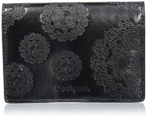 Desigual SIMPLE NEOGRAB, Portefeuille femme - Noir (2000), 12.50x9.50x1.50 cm (B x H x T)