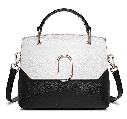 Xinmaoyuan Damen Lederhandtaschen Hit Farbe einzelne Schulter Handtasche Leder Tasche Fashion Wild Sarg Shell Paket (Sarg Geldbörse)