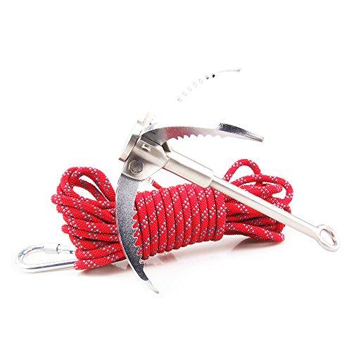 400 Kg Mousqueton en Acier Pliage Crochet de Prise pour Camping Escalade