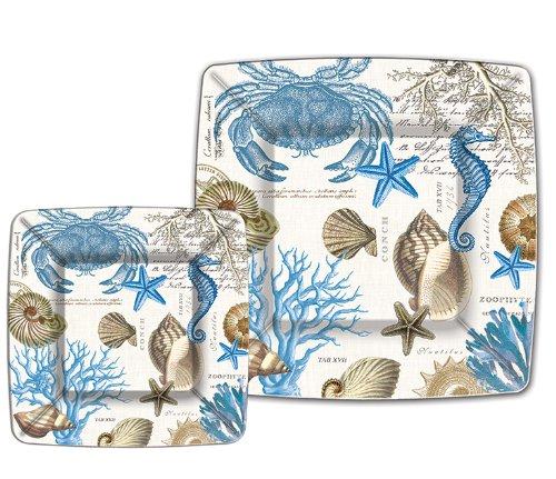 Michel Design Works Seashore 8Zählen Abendessen Pappteller (Platten Papier Designer)