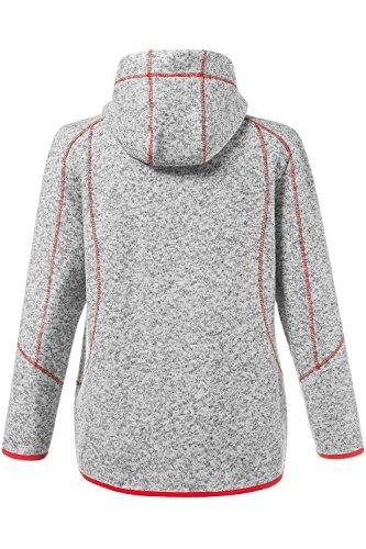 Ulla Popken Femme Grandes tailles Veste sweat-shirt et fermeture Éclair Polaire 697098 Pêche