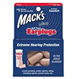 Macks Ultra Soft Foam Earplugs, 10 Count (Pack of 6) by Mack's