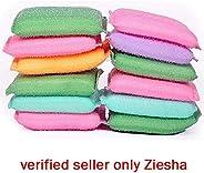 Ziesha Multi Colour Foam Pad Sponge Scourer Kitchen Scrubber for Dish/Utensils/Tiles Cleaning (14mm)