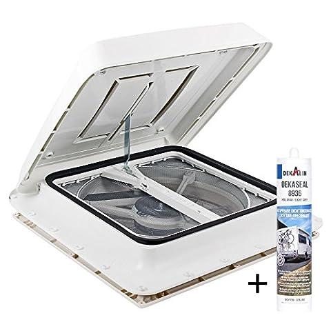 Fiamma Manivelle capot de toit Polar Control Turbo Vent avec thermostat et mastic pour caravane ou camping-car
