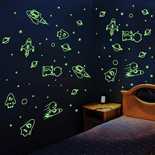 Sterne Im Dunkeln leuchten Wohnkultur Leuchtende Planeten Planeten Rakete Ufo Astronaut Wandaufkleber Für Kinder Baby zimmer ()