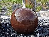 Kugelbrunnen 30 cm Cortenstahl Roststahl Komplettset Kugel Wasserspiel