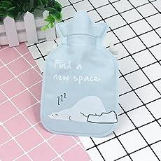 Jadebin Cute Child Winter Cartoon Mini Cute Hot Water Bottle Water Bag Hot Hand Treasure - Blue Polar Bear