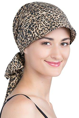 Hübscher Hut Mit Rückbinde Fur Haarverlust (Leopardenmuster)