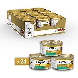 Gourmet Gold Purina Umido Gatto Mousse, 24 Lattine da 85 g Ciascuna, Confezione da 24 x 85 g