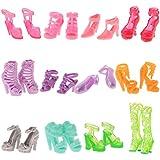 Gazechimp 12 paires Assortis Princesse Chaussures Talon Haut Sandales Décoration pour Poupée Barbie Accs