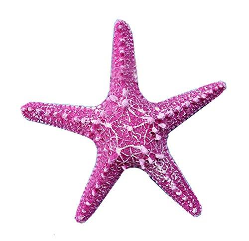 (2 Stück Künstlich Seesterne Heim Deko Badezimmer Mittelmeer Fisch Tank Landschaft Ornamente Aquarium zum Dekorieren & Basteln DIY (Pink 15cm))