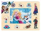 BRIMAREX® Steckpuzzle Disney FROZEN Eiskönigin Holzsteckpuzzle Eisprinzessin Anna Elsa Olaf Holz Puzzle ab 2 Jahren
