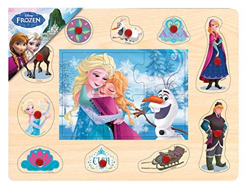 ⭐️⭐️⭐️BRIMAREX® Steckpuzzle Disney FROZEN Eiskönigin Holzsteckpuzzle Eisprinzessin Anna Elsa Olaf Holz Puzzle ab 2 Jahren⭐️⭐️⭐️ (Eisprinzessin Auge)