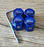 Speed Demon Ford blau Anti-Diebstahl-Legierung Rad Auto Reifen Ventil Staub Caps passt alle Modelle Focus Fiesta KUGA