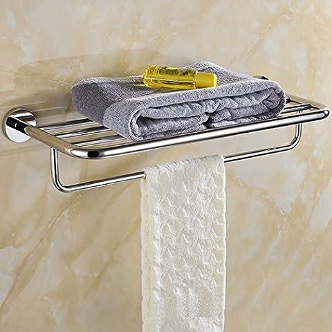 LD&P Badezimmer Regale An der Wand montiert Rostfreier Stahl Handtuchhalter Doppelschicht (Nickel Poliert Kabinett Hardware)