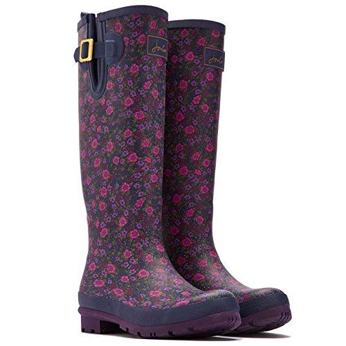 Joules Damen-Gummistiefel, Wellyprint, Regen-Stiefel - Navy Ditsy