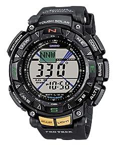 Reloj de caballero CASIO PRG-240-1ER Pro Trek de cuarzo, correa de resina color negro (con altímetro, cronómetro, alarma) de Casio