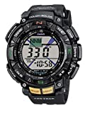 Want something unique and different? Then the Mens Pro-Trek Solar Powered Sports Watch  PRG-240-1ER from Casio is for you.  Like all Casio watches, each and every timepiece is flawless in design and craftmanship. The Mens Pro-Trek Solar Powered Sport...