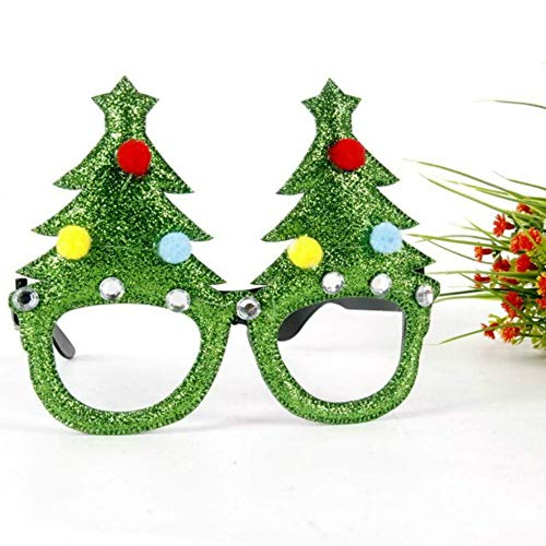 (LOTONJT 1 para Weihnachts Party-Gläser Lustige Weihnachts Gefälschte Kostüm Brille Kinder Spielzeug Party Favors Photo Booth Requisiten Festival Zubehör (Christmas Trees))
