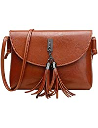 Jokereader Tassel Women Messenger Bags Shoulder Bag PU Leather Mini Lady  Handbags Change Coin Purse Phone d8886f7d62165