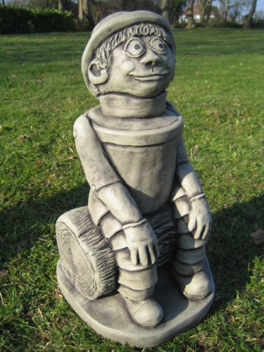 Ben - flower pot man stone garden ornament || See my full shopfront with over 150 items available >> click the blue neilsstonecraft link below