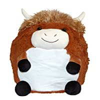 Cozy Time Giant Soft Plush Cuddly Toy Handwarmer - Highland Cow