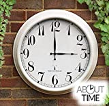 About Time Orologio radiocomandato - Bianco anticato - 57.5 cm Orologio da Giardino all'aperto
