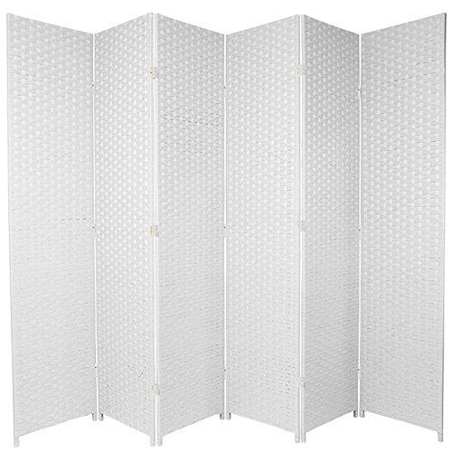 Separador de espacios plegable de 6 paneles, marrón claro, 5