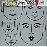 """Crafter's Workshop Template 12""""X12""""-Many Faces"""