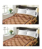 #2: Christy's Collection Super Soft Printed 2 Piece Cotton Blend AC Double Blanket - Multicolor