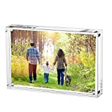 Acrylic Photo Photograph Frames, Stand with Magnets, Holds 3.5 X 5 Inches Pictures,10mm+10mm Thickness Transparent by Boxalls