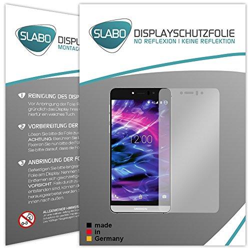 2 x Slabo Bildschirmfolie für Medion Life X5004 (MD 99238) Bildschirmschutzfolie Zubehör