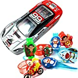 URVI Creations1 Pcs Cartoon Character Led Rakhi With Gift Car Shape Pencil Box For Kids, Boys Girls, Best Rakhi Gift For Kids, Rakhi For Kids Brother