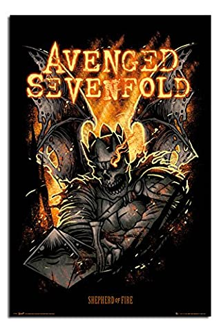 Avenged Sevenfold Sheperd Of Fire Poster - 91.5 x 61cms (36 x 24 Inches)