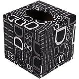 Caja de titular de papel higiénico negro titular de papel higiénico - patrón de letras