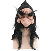 Del Hombre Antiguo de Halloween fiesta de disfraces máscara de gnomo enano duende con capucha y barba