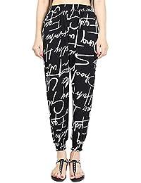 Mujer Pantalones Harem Vintage Fashion Impresión Patrón Pantalones De  Tiempo Libre Fiesta Estilo Elastische Taille Cintura Alta Elegantes… b4ced10716f