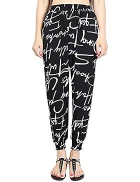 Mujer Pantalones Harem Vintage Fashion Impresión Patrón Pantalones De Tiempo Libre Fiesta Estilo Elastische Taille...