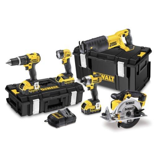 DeWalt 18V XR Cordless pacchetto con batterie (5pezzi)