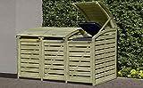 Mülltonnenabtrennung / Mülltonnenbox für 3 Tonnen 240L aus KDI Holz