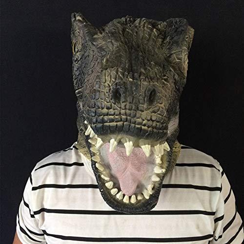 XIAO RUI Dinosaurier Maske Halloween Blutige Tier Maske Terrorist Tyrannosaurus Latex Maske Schlange Offenen Mund Karneval Party Cosplay Kopfbedeckungen Requisiten (Schlange Um Den Hals Kostüm)