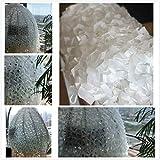 Weißes Tarnnetz 2x3m, 3x5m, Tarnnetz Hinzugefügt Verstärkung Netz Schatten Mesh Sun Sunscreen Net...