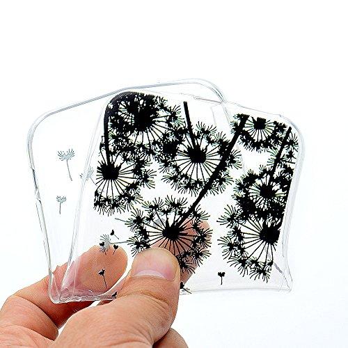 iPhone X Hülle, Voguecase Silikon Schutzhülle / Case / Cover / Hülle / TPU Gel Skin für Apple iPhone X(Buntes my phone) + Gratis Universal Eingabestift Schwarz Löwenzahn 05