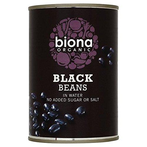 Biona Orgánica frijoles negros en 400 g de agua